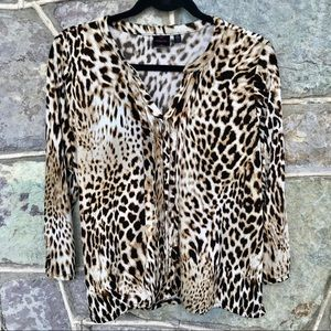 🐆 Carol Baskin cheetah print blouse